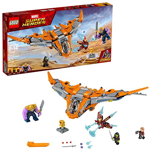 LEGO Marvel Super Heroes Avengers: Infinity War Thanos: Ultimate Battle 76107 Guardians of the Galaxy Starship Action Construction Toy and Building Kit for Kids (674 Piece)]()
