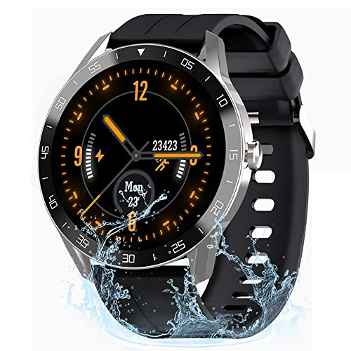 IOWODO Smart Watch for Men Women, Fitness Tracker with Heart Rate Monitor, 5ATM Waterproof Fitness Watch Step Counter…