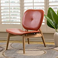 Antana Bonded Leather Accent Chair (Orange)