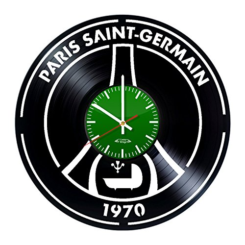 French Sports Club Design Vinyl Record Wall Clock - Gift Idea for adults or youth - Contemporary living room wall art decoration