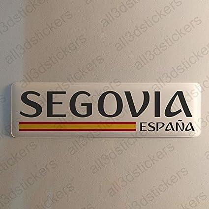 Pegatina Segovia España Resina, Pegatina Relieve 3D Bandera ...