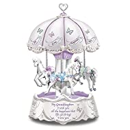 Granddaughter I Wish You Musical Revolving Carousel Lights Up:by The Bradford Exchange