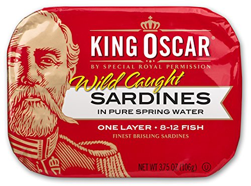 King Oscar Wild Caught Brisling Sardines In Pure Spring Water, 3.75 Ounce (Pack of 12)