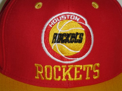 new arrival f861e b3d9e NBA Houston Rockets Retro 2 Tone Red Snapback Cap Old School ...