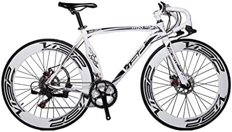 Cyrusher Machete Road Bicycle Aluminium Frame 54 cm 700C 70MM Mens Road Bike Speeds Mechanical Disc Brakes