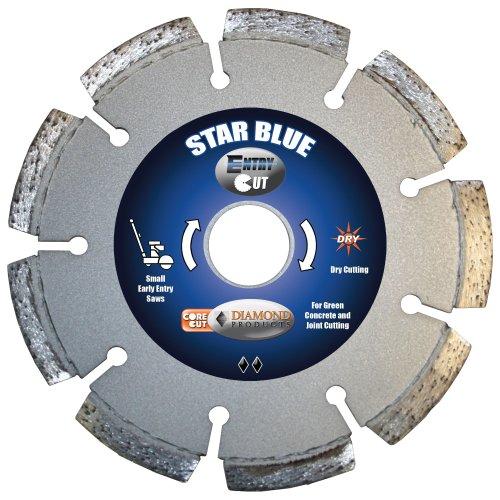 - Diamond Products Core Cut Diamond Product 15740 Star Blue Entry Cut Early Entry Diamond Blade 6 x .100 x 1