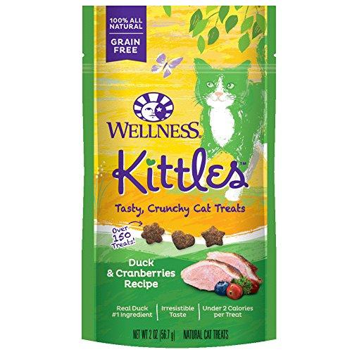 Wellness Natural Pet Food 90057 Duck and Cranberries Kittles Grain-Free Cat Treat, 2 oz