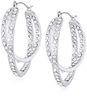 T Tahari Essentials Women's Btir Cry Hoop Earrings, Color Silver, One Size
