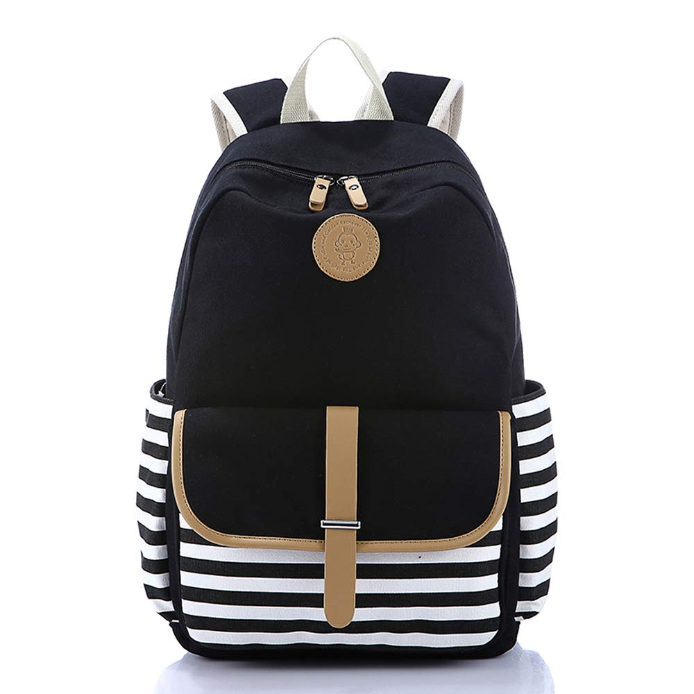 c0ef9f84a Amazon.com: Backpack for Women Lightweight Canvas Travel College Laptop Backpack  School Computer Bag: Clothing