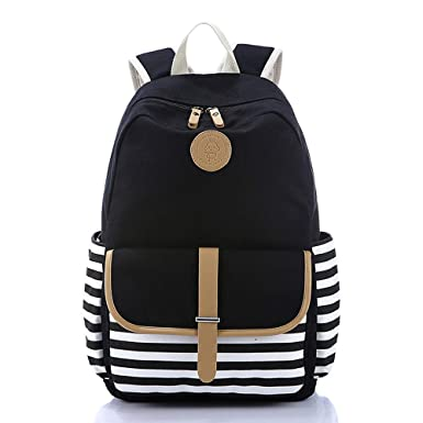 339e483b3a Backpack for Women Girls Lightweight Canvas Travel College Laptop Backpack  School Computer Bag