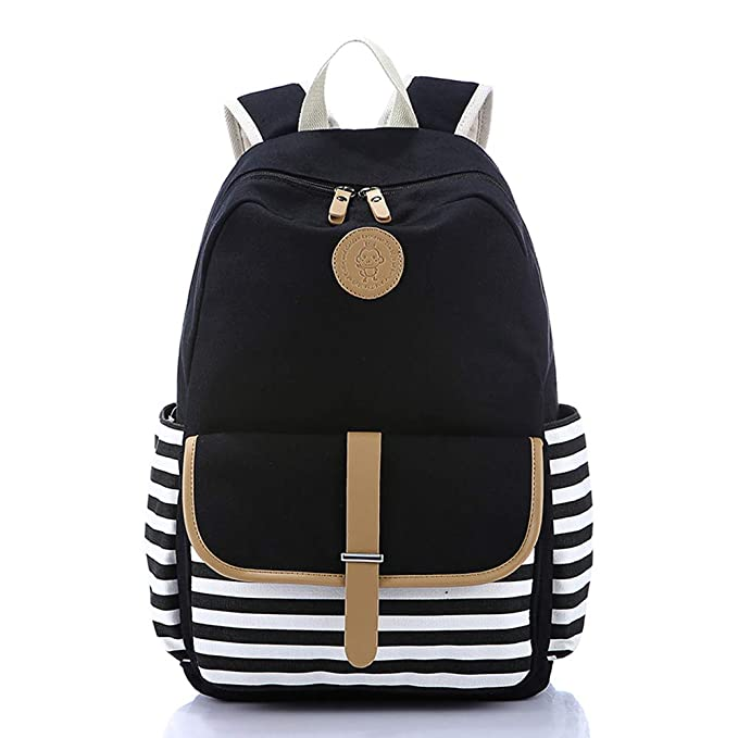1c536d4790f0 Lightweight Canvas Backpack Fashion School Bag Outdoor Travel Laptop  Backpacks
