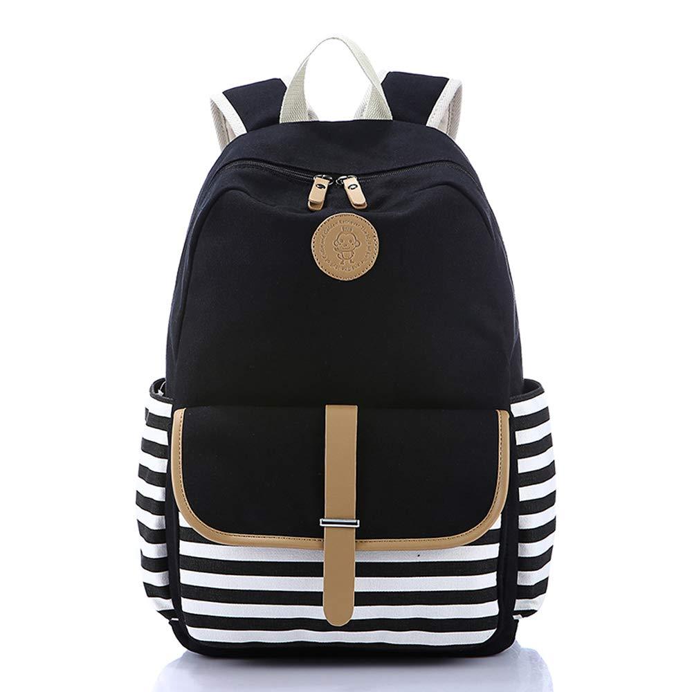 Backpack for Women Girls Lightweight Canvas Travel College Laptop Backpack School Computer Bag