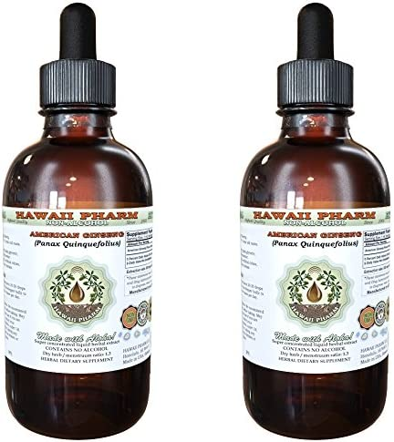 American Ginseng Alcohol-FREE Liquid Extract, Ginseng Panax Quinquefolius Dried Root Glycerite 2×4 oz