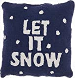 "Mina Victory Home Let It Snow Multicolor Holiday Throw Pillow, 18"" x 18"""