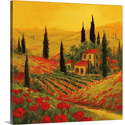 GREATBIGCANVAS Gallery-Wrapped Canvas Entitled Poppies of Toscano II by Art Fronckowiak 20