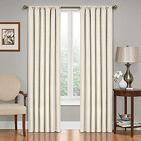 Eclipse 10707042X063IVY Kendall 42-Inch by 63-Inch Thermaback Room Darkening Single Panel, Ivory (Eclipse 42x63)