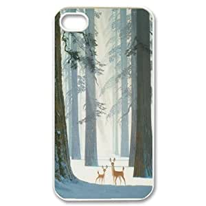 [QiongMai Phone Case] For Iphone 4 4S case cover -Animal Deer-IKAI0448349