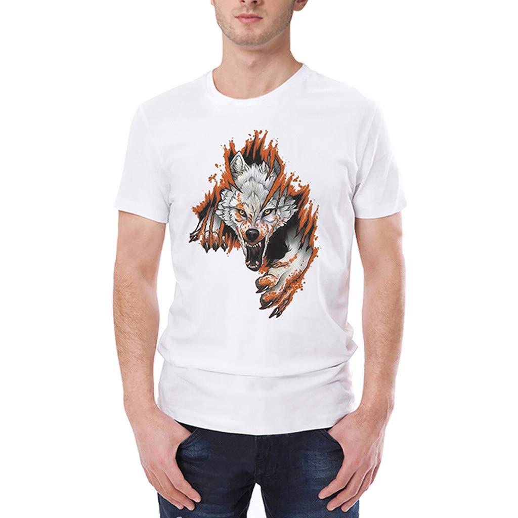 Camisas Casual Deportivas Hombre, Modaworld Camiseta De La Moda De Primavera y Verano Camiseta De Manga Corta con Cuello Redondo De Manga Corta para Hombre
