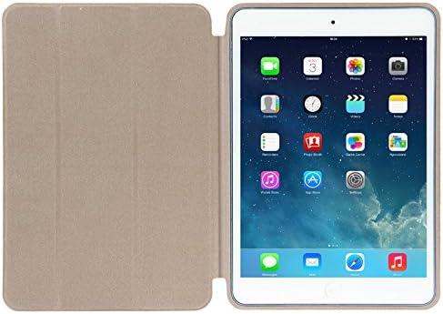CrazyCase/® Etui Smart Cover pour iPad Air//iPad 5//Housse//Etui pour Tablette/////étui de Protection pour iPad. Gris De qualit/é sup/érieure avec Fonction Veille//r/éveil Argent