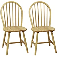 Windsor Chair in Natural, Set of Two