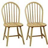 Windsor Chair in Natural, Set of Two For Sale