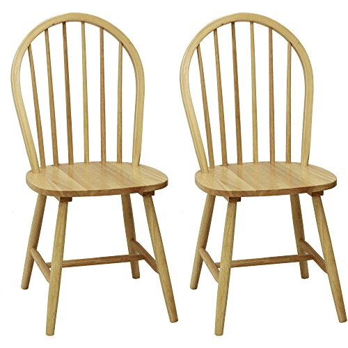 Windsor Chair in Natural, Set of Two (Chairs Windsor Wood Dining)