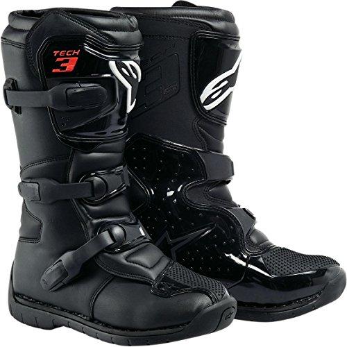 Alpinestars Tech 3S Kids Boots , Distinct Name: Black, Size: 12, Size Segment: Youth, Primary Color: Black, Gender: Boys 2014191012
