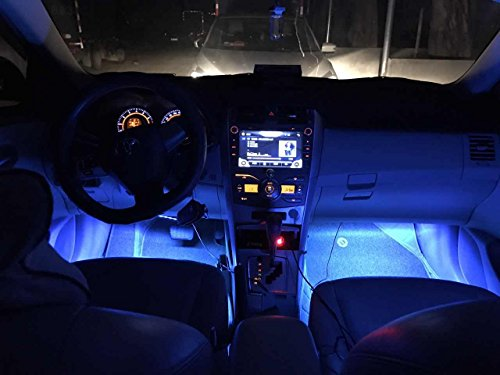 Car LED Strip Lights,Unpopular 4pcs 48 LED USB Car Interior Music Multicolor Rope Lights Atmosphere Decorative SMD Neon Lamp Lighting with Sound Active Function,Wireless Remote Control(USB Port) by UNPOPULAR (Image #8)