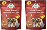 Oxbow Simple Rewards Baked Treats - Apple & Banana - 4oz (2 Pack)