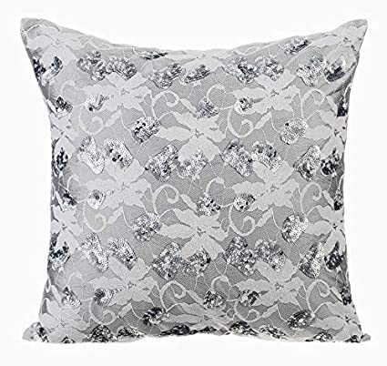 Amazoncom The Homecentric Luxury Grey Shams Crochet Net Fabric