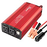 Car Power Inverter 700W Car Inverter DC 12V to 110V AC Converter Devel Car Charger Adapter 4.2A Dual USB Ports for Laptop, Smart Phone(Red_700W)