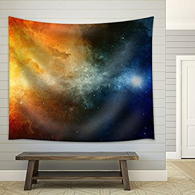 Grand Expertise, Scientific Background Big Red Star Nebula in Deep Space Fabric Wall, Top Quality Design