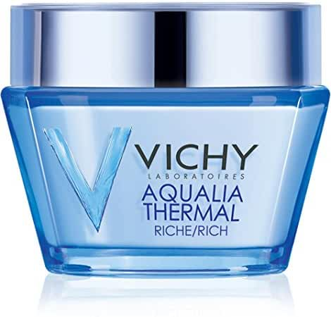 Vichy Aqualia Thermal Rich Cream 48 Hour Facial Moisturizer with Hyaluronic Acid for Dry Skin, 1.69 Fl. Oz.