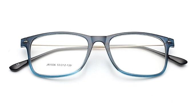 219b5714cfa56 Amazon.com  Flowertree Unisex S9352 Lightweight Super Thin Arm Wayfarer  52mm Glasses (Blue)  Clothing