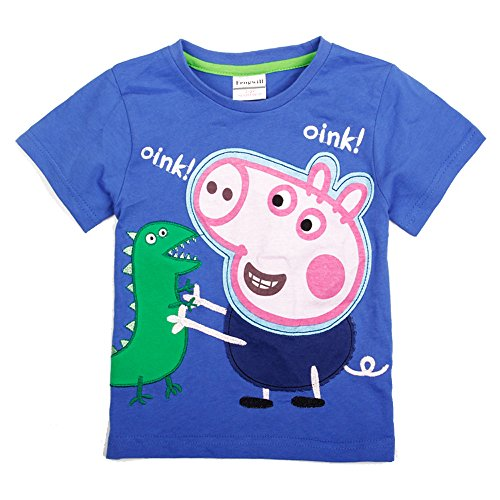 Price comparison product image Peppa Pig 18m / 6y Kids Brand Weae Tunic T-shirt with Embroidery Boy Short Sleeve 18 / 24m