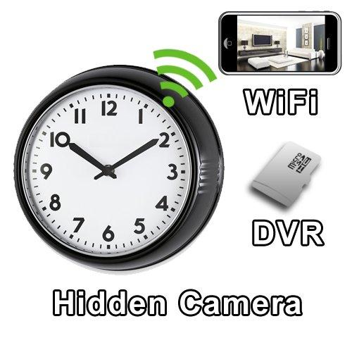 07c989fb6e2a Amazon.com   PalmVID WiFi Wall Clock Hidden Camera Spy Camera with Live  Video Viewing   Camera   Photo