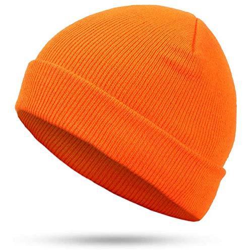 Secret-shop Fashion Solid Color Knit Beanies Hat Winter Hats Warm Multiple Colour Skullies Soft -