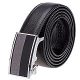 Vbiger Men's Leather Belt Sliding Buckle 35mm...