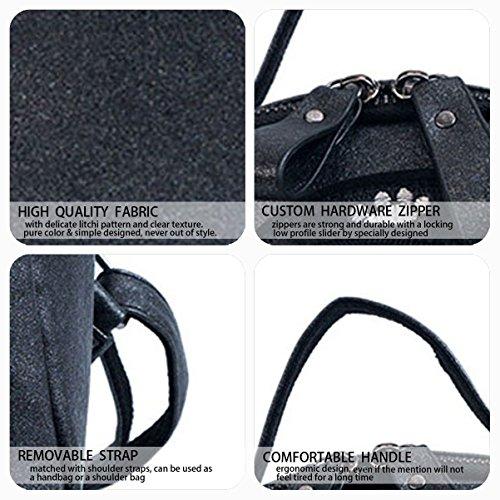 Vert DEERWORD Femme V2 Sacs bandoulière Cuir V1 portés Noir portés Sacs main dos Faux Sacs rPwFrUq