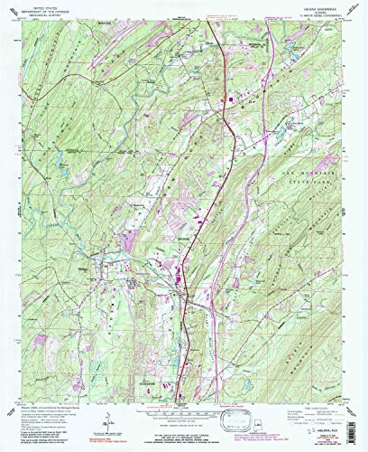 YellowMaps Helena AL topo map, 1:24000 Scale, 7.5 X 7.5 Minute, Historical, 1959, Updated 1991, 26.9 x 22 in - Tyvek ()