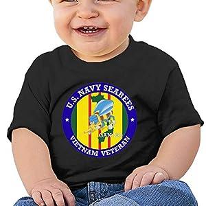 LUCIFA BAY U.S. Navy Seabees Vietnam Veteran Children's T Shirt Baby Boys Girls Tee Infant Toddler T-Shirt