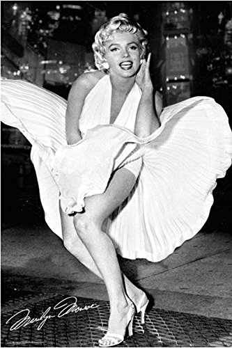Buyartforless Marilyn Monroe - White Dress - 7 Year Itch 36x24 Photograph Art Poster Print - Famous Scene from The Movie - Marilyn Monroe Famous White Dress