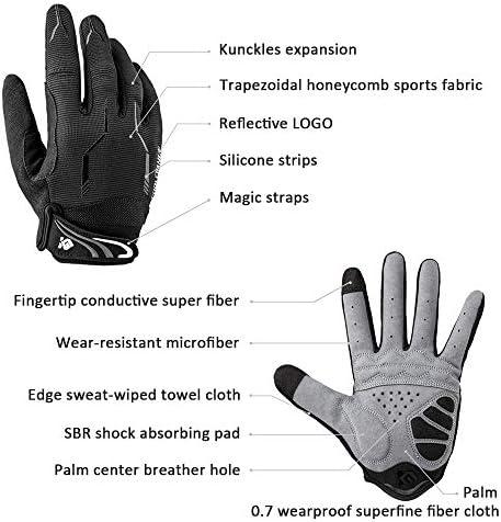 I Kua Fly Cyclisme Gants Plein doigt vélo de montagne Gants Gel Rembourré Touchscreen