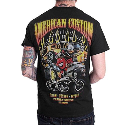 Hot Rod American Custom Mens Black T-Shirt Short Sleeve (3X-Large)