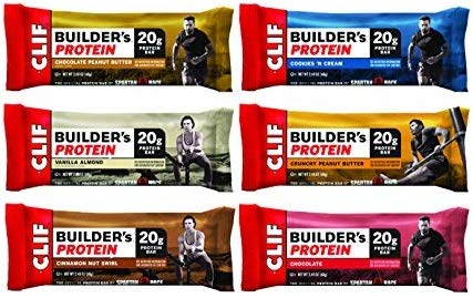 Clif Builders Variety Pack of 12 (6 Flavors)
