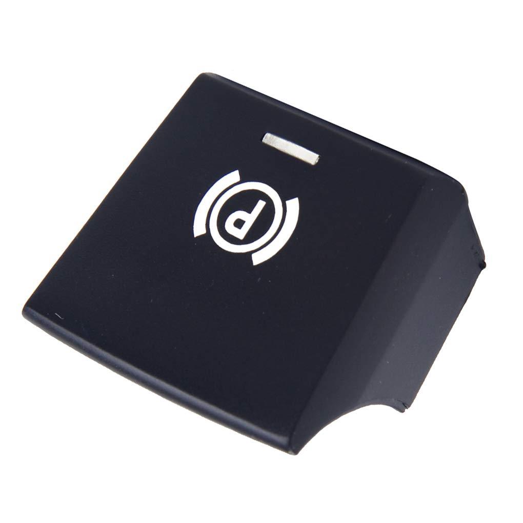 JinzukeFreno de estacionamiento P Interruptor de botón de la Cubierta del reemplazo para BMW Serie 5/7 Serie F10 F02 61316822518