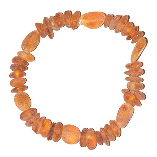 Adult Amber Handmade Bracelet – Genuine Baltic Amber for best price – Elastic