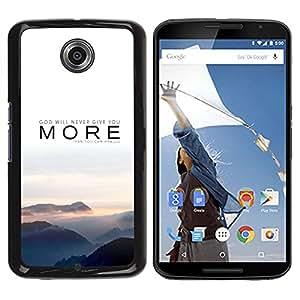 TECHCASE**Cubierta de la caja de protección la piel dura para el ** Motorola NEXUS 6 / X / Moto X Pro ** More Message Text Nature Mist Sunset