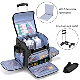 Luxja Serger Case with Detachable Trolley Dolly