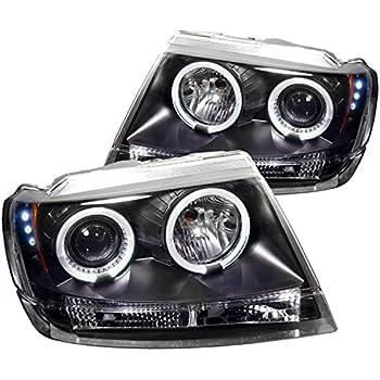 Spyder Auto Jeep Grand Cherokee Black Halogen LED Projector Headlight